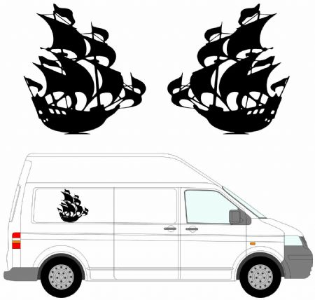 (No.21) MOTORHOME GRAPHICS STICKERS DECALS CAMPER VAN CARAVAN UNIVERSAL FITTING